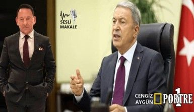 Hulusi Akar; 'Yunan halkı Macron'a meze olmamalı..'