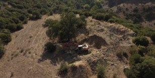 Kaçak kazıya drone destekli operasyon: 4 kişi yakalandı
