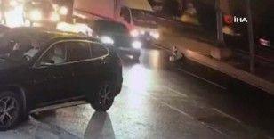 Şişli'de bir kadın kimliği belirsiz kişiler tarafından seyir halindeki araçtan aşağı atıldı