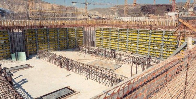 Akkuyu NGS'nin 2. güç ünitesinde iki binanın temel atma çalışmaları tamamlandı