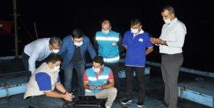 Kaçak balık avına drone ile müdahale