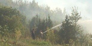 Trabzon'da örtü yangını