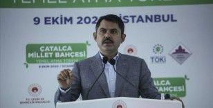 Çevre ve Şehircilik Bakanı Kurum: 77 ilimizde 270 millet bahçesi yapıyoruz
