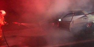 Balya'da seyir halindeki otomobil yandı