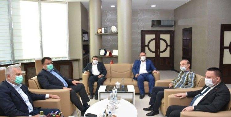 Eski milletvekili Külünk'ten Başkan Beyoğlu'na ziyaret