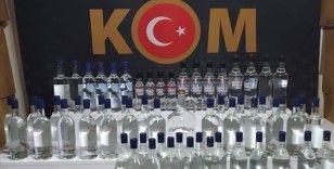 Dün düzenlenen operasyonlarda 1552 şişe ve 3 bin 232 litre kaçak/sahte alkollü içki ele geçirildi