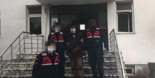 PKK terör örgütü üyesi tarlada çalışırken yakalandı