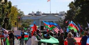 Beyaz Saray önünde Azerbaycan'a destek mitingi düzenlendi