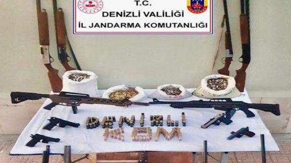 Denizli'de silah kaçakçılarına operasyon