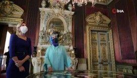 Emine Erdoğan, Ukrayna Devlet Başkanı'nın eşine Dolmabahçe Sarayı'nı gezdirdi