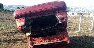 Samsun'da otomobil şarampole yuvarlandı: 1 yaralı