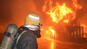 Suudi Arabistan'da kükürt fabrikasında korkutan yangın