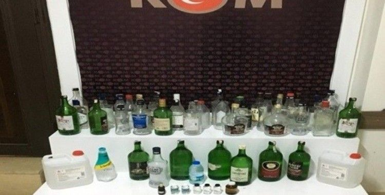 Didim'de sahte içki operasyonu