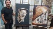 Mardinli ressamın ziftten yaptığı tablolar görenleri hayran bırakıyor