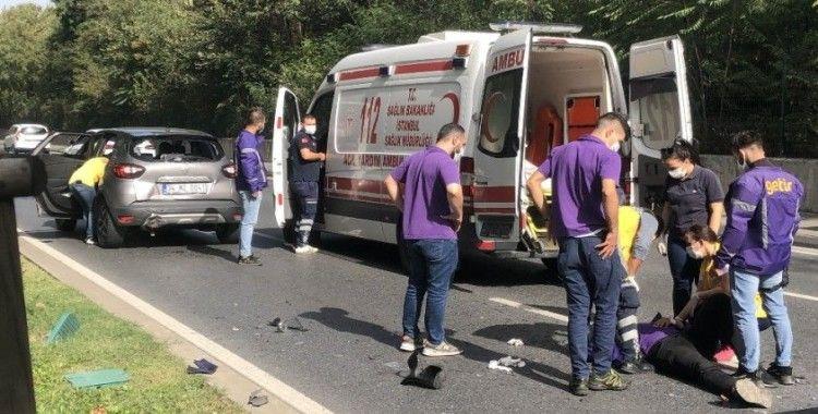 İstanbul'un göbeğinde feci kaza: Kurye yerdeyken sürücü paspasları temizledi