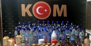 Kilis'te 114 şişe kaçak içki ele geçirildi