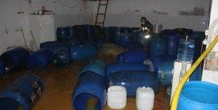 7 bin 300 litre sahte içki ele geçirildi