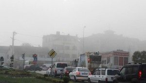 Düzce'de sis nedeniyle görüş mesafesi 20 metreye düştü