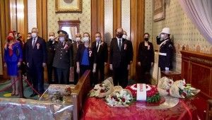 Gazi Mustafa Kemal Atatürk, vefatının 82'nci yıl dönümünde Dolmabahçe Sarayı'nda anıldı