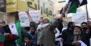 El Bab'ta siviller mülteci konferansını protesto etti