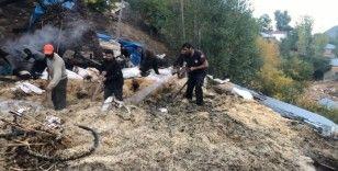 Bingöl'de çıkan yangında 2 ev ve 1 cami zarar gördü