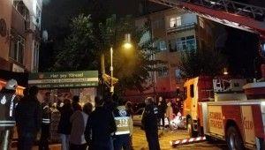 Maltepe'de üç katlı binada çıkan yangında can pazarı
