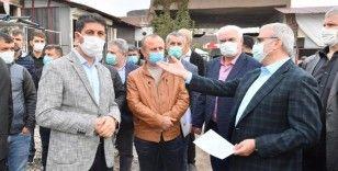 Münir Karaloğlu, eski hastane binasında incelemelerde bulundu