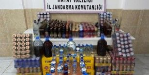 Hatay'da 241 litre kaçak içki ele geçirildi