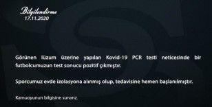Sivasspor'da 1 futbolcunun testi pozitif çıktı!