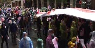 Gürcistan'da Pompeo'nun ziyareti sırasında hükümet karşıtı protesto