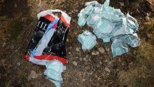 Bebek bezine sakladıkları bomba ile yakalandılar