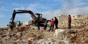 Sadakataşı Derneği, İdlib'de 100 briket evin temelini attı