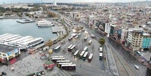 Yasak sonrası Üsküdar ve Kadıköy manzaraları