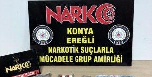 Konya'da uyuşturucuya 3 tutuklama