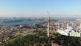 Çamlıca'daki TRT verici kulesinin sökümünde sona yaklaşıldı