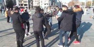 Taksim'de Arap turistlerden şok eden görüntüler
