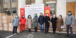 Samsun'dan gönderilen sağlık malzemeleri Kırgızistan'a ulaştı