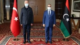 Bakan Akar, Libya Yüksek Devlet Konseyi Başkanı El Meşri ve Libya İçişleri Bakanı Başağa ile görüştü