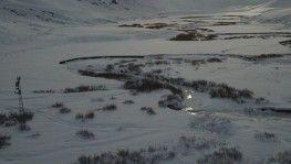 Şırnak'ta dev menderesler buz tuttu