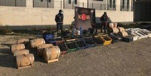 Bursa'da imalathaneye dönüştürülen çiftlikte 10 ton sahte içki ele geçirildi