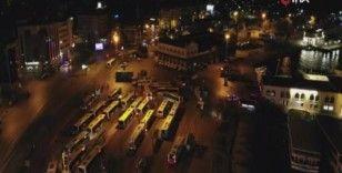 4 günlük yılbaşı kısıtlamasında Kadıköy Meydanı boş kaldı