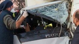 Kırklareli'nde beton mikseri ile kamyonet çarpıştı