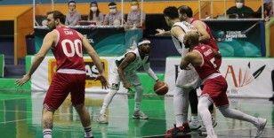 Akhisar Belediye Basket evinde Samsunspor'a takıldı