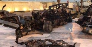 Süleymani'nin içinde bulunduğu araç Bağdat Havalimanı yolu üzerine konuldu