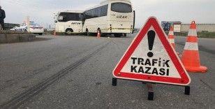 Tekirdağ'da işçi servislerinin çarpışması sonucu 19 kişi yaralandı