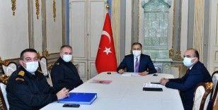 """""""İstanbul'umuzun güvenlik ve huzuru için 2021 yılının ilk asayiş toplantısındayız"""""""