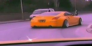 Güngören'de spor arabasıyla drift yapan sürücü gözaltına alındı