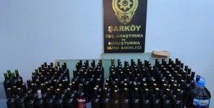 Şarköy'de 120 litre kaçak içki ele geçirildi: 3 gözaltı