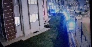 Pendik'te bir kişinin yaralandığı kaza güvenlik kamerasında