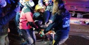 TEM Otoyolu'nda feci kaza: 6 yaralı